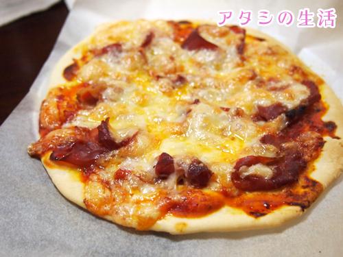 手作りピザ。生ハムのピザ