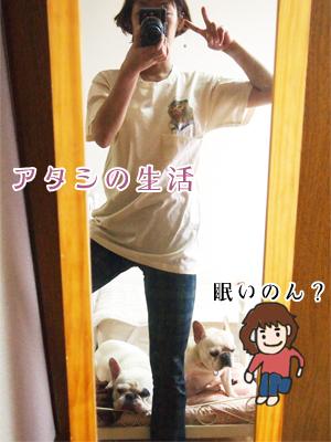Tシャツで家族写真