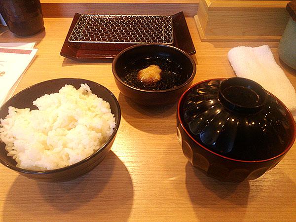 ご飯+お味噌汁+天つゆ