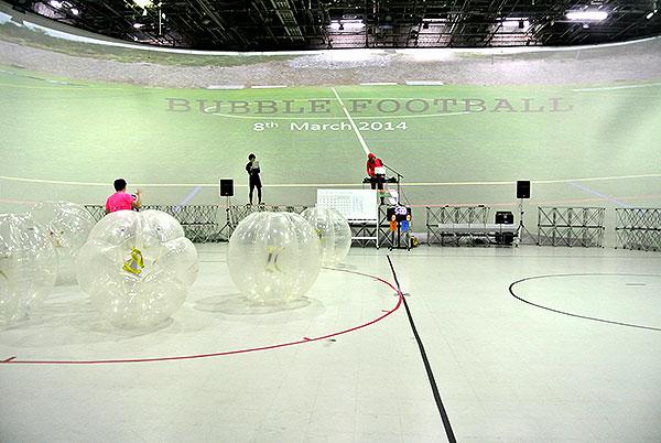 バブルフットボールイベント会場