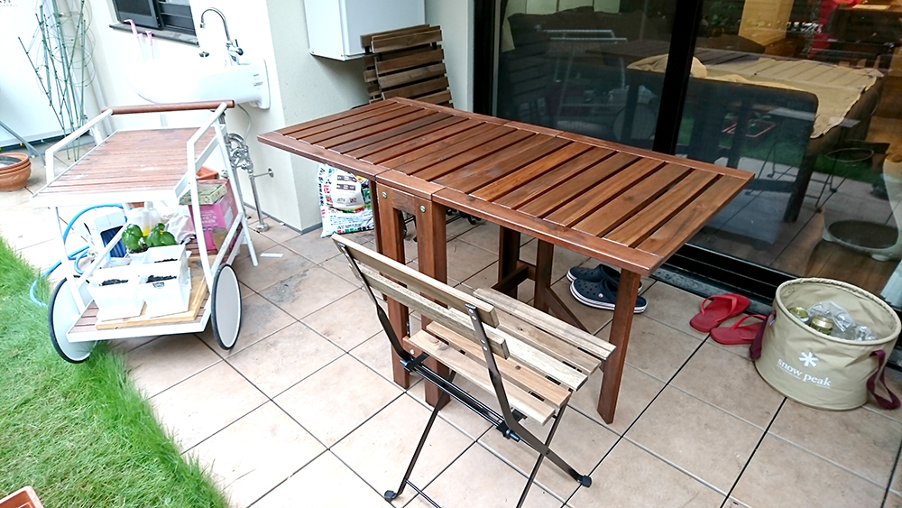 IKEAテーブル全開