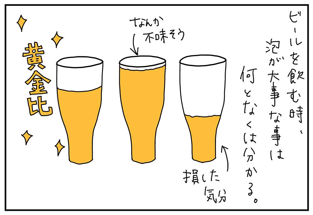 生ビールの泡