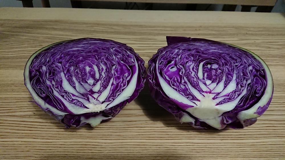紫キャベツ綺麗!