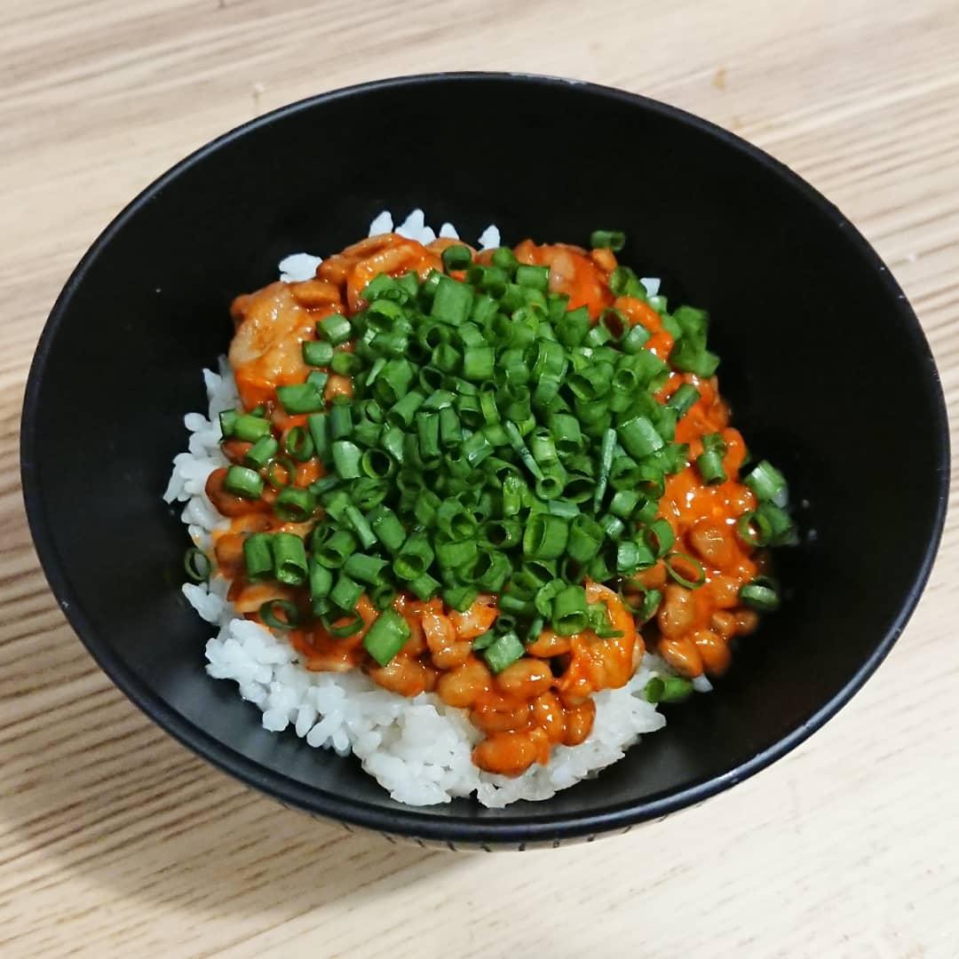 チャンジャ納豆ご飯