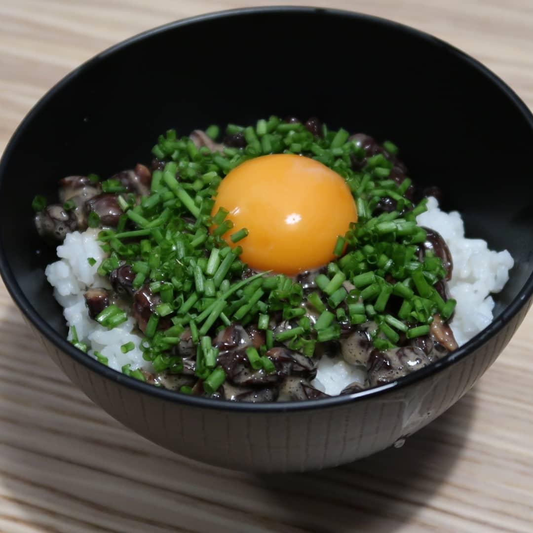お土産納豆ご飯